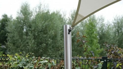 hoogwaardige materialen voor zonnezeil systeem van Texstyleroofs®