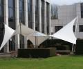 Design overkapping met strakke vormen als terrasoverkapping