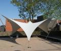 Design overkapping van zeil doek als rokersruimte