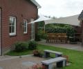Design overkapping met zeil doek als terrasoverkapping