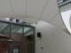 Design overkapping met zeildoek als rokersruimte