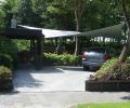Design overkapping met zeildoek als design carport - Texstyleroofs