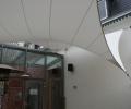 Design overkapping van zeil doek als overkapping voor rokersruimte