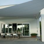 Design overkapping van zeil doek als overkapping voor terras