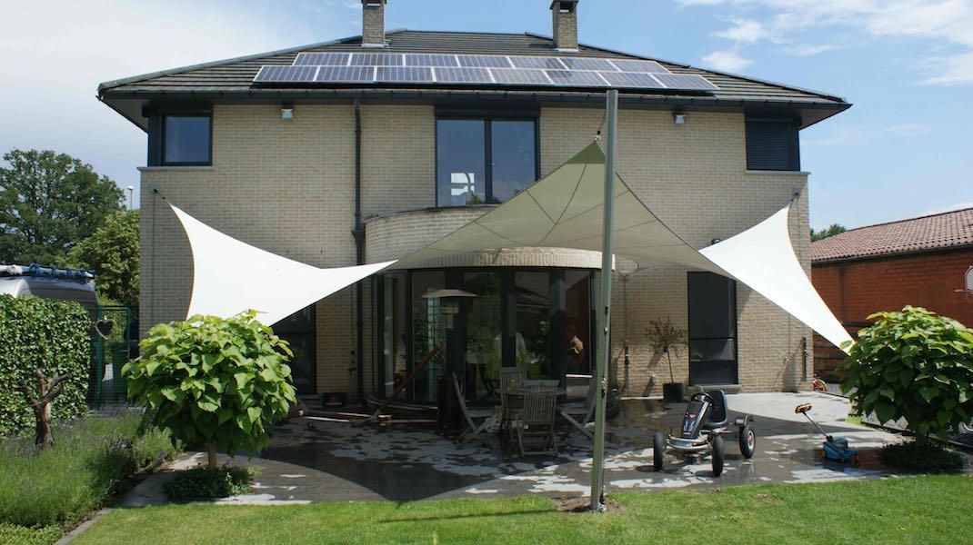 Zeildoek tuin bouwmaterialen - Terras zeil ...