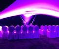 Vrijstaande design overkapping verlichting squaricles